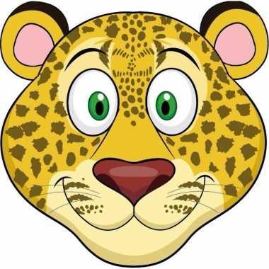 Luipaard maskertjes kinderen carnavalskleding valkenswaard