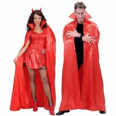 Luxe cape rood satijn carnavalskleding valkenswaard