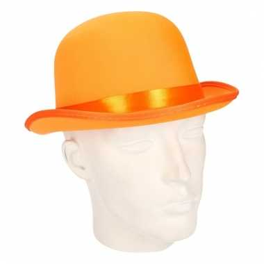 Luxe oranje feestbolhoed oranje carnavalskleding valkenswaard