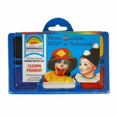Make up set clown carnavalskleding valkenswaard