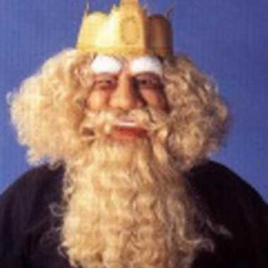 Masker baard, snor kroon carnavalskleding Valkenswaard