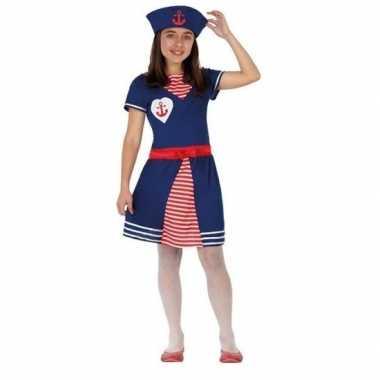Matrozen verkleed jurkje/carnavalskleding meisjes valkenswaard