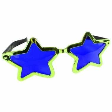 Mega groene sterren verkleed bril volwassenen carnavalskleding valken