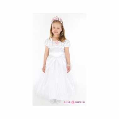 Meiden communiecarnavalskleding witte jurk valkenswaard