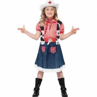 Meisjes verkleedcarnavalskleding cowgirl