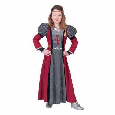 Middeleeuwse jonkvrouw verkleed jurk meisjes carnavalskleding valkens