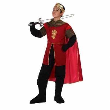 Middeleeuwse koning/ridder henry verkleedset jongens carnavalskleding