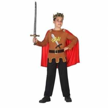 Middeleeuwse ridder/koning arthur verkleed carnavalskleding jongens v
