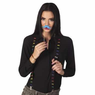 Moustache feestbretels carnavalskleding valkenswaard