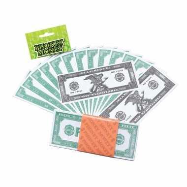 Namaak geld dollars stuks carnavalskleding valkenswaard
