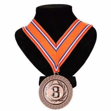 Nederland medaille nr. lint oranje/rood/wit/blauw carnavalskleding va