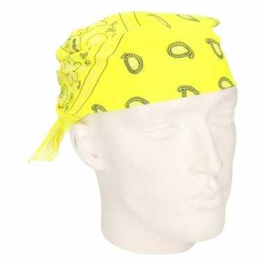 Neon gele zakdoek bandana