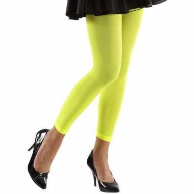 Neon groene legging dames carnavalskleding valkenswaard