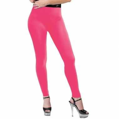Neon roze legging dames carnavalskleding valkenswaard