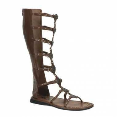 Neplederen Griekse sandalen heren carnavalskleding Valkenswaard