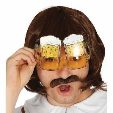 Oktoberfest bier pullen verkleed bril volwassenen carnavalskleding va