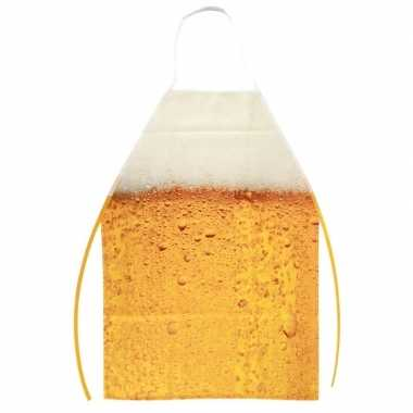 Oktoberfest schort bier patroon one size carnavalskleding valkenswaar