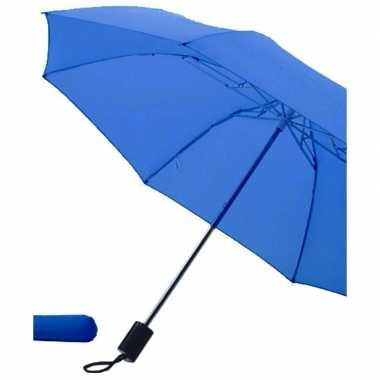 Opvouwbare paraplu blauw carnavalskleding valkenswaard