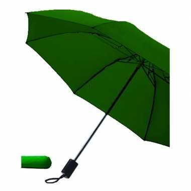 Opvouwbare paraplu donkergroen carnavalskleding valkenswaard