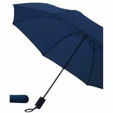 Opvouwbare paraplu navy blauw carnavalskleding valkenswaard