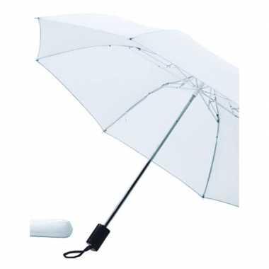 Opvouwbare paraplu wit carnavalskleding valkenswaard