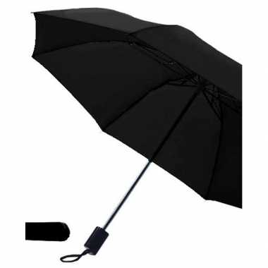 Opvouwbare paraplu zwart carnavalskleding valkenswaard