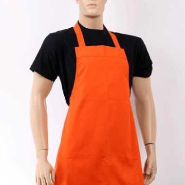 Oranje barbeque keukenschort carnavalskleding Valkenswaard