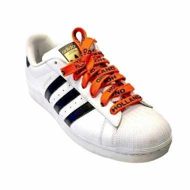 Oranje holland supporter schoenveters carnavalskleding valkenswaard