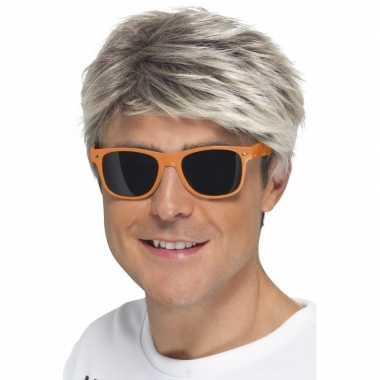 Oranje neon feestbril volwassenen carnavalskleding valkenswaard