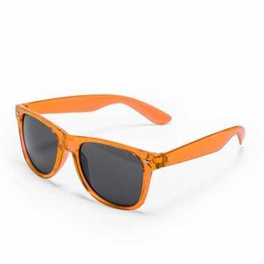 Oranje verkleed accessoire zonnebril volwassenen carnavalskleding val
