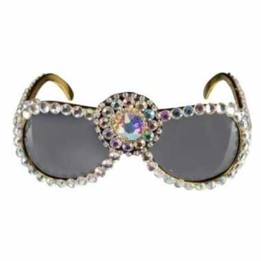Over the top zonnebril bling bling dames carnavalskleding valkenswaar