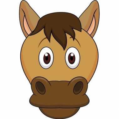 Paard maskertjes kinderen carnavalskleding valkenswaard
