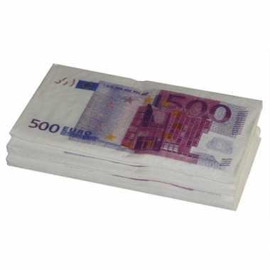 Papieren servetten euro stuks carnavalskleding Valkenswaard