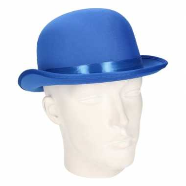 Party bolhoedje blauw vilt carnavalskleding valkenswaard