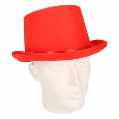 Party hoge hoedje rood vilt