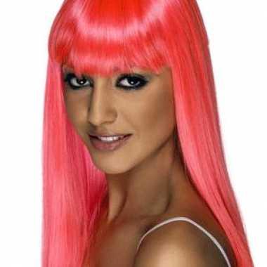 Partypruiken roze dames carnavalskleding valkenswaard