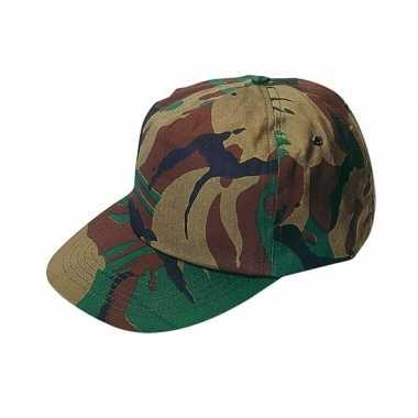 Pet cap volwassenen camouflage
