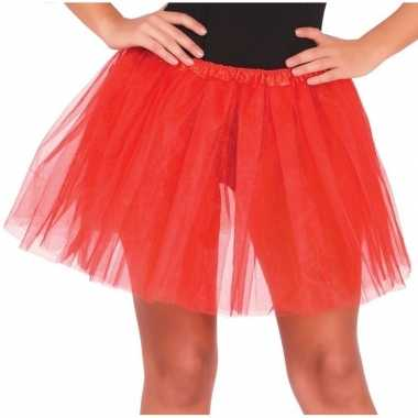 Petticoat/tutu verkleed rokje rood dames carnavalskleding valkenswaar