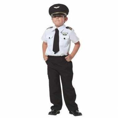 Piloot verkleed carnavalskleding jongens valkenswaard