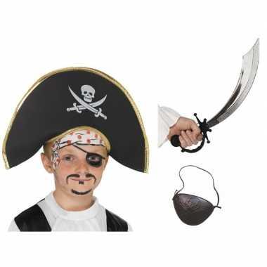 Piraat accessoires verkleedset kinderen carnavalskleding valkenswaard