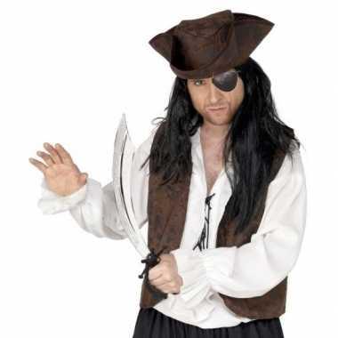Piraat accessoires verkleedset ooglapje zwaard carnavalskleding valke