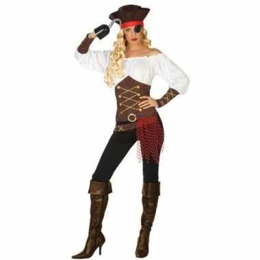 Piraat agatha verkleed carnavalskleding/carnavalskleding dames valken
