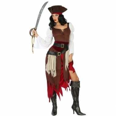 Piraat francis verkleed carnavalskleding/carnavalskleding dames valke