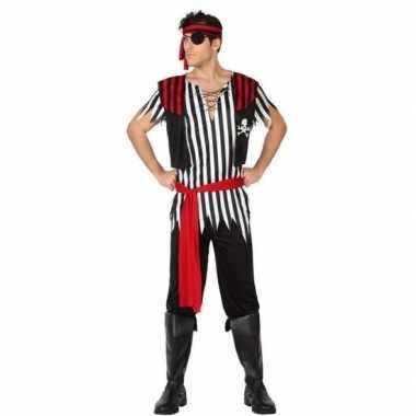 Piraat jack verkleed carnavalskleding/carnavalskleding heren valkensw