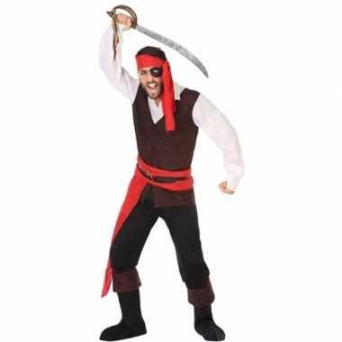 Piraat john verkleed carnavalskleding/carnavalskleding heren valkensw