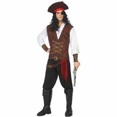 Piraat lewis verkleed carnavalskleding/carnavalskleding volwassenen v
