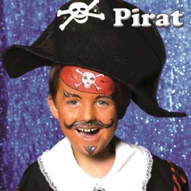 Piraat schminken schminkset carnavalskleding valkenswaard