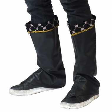 Avantageux Bottes De Pirates Dressings Couvre-chaussures Pour Les Hommes Noirs le0emkXc