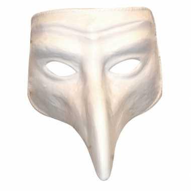 Plaag comedy masker wit carnavalskleding Valkenswaard