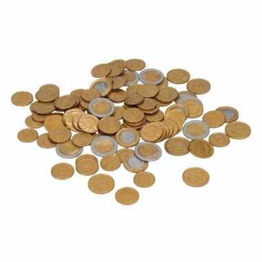 Plastic euro munt stukken carnavalskleding valkenswaard